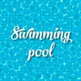 Idérik vektorillustration av den bästa sikten för simbassäng med reflexionsbakgrund Konstdesign av tropisk cle för skimrande turk Royaltyfria Bilder