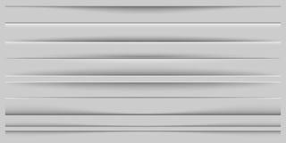 Idérik vektorillustration av realistiska pappers- skuggaavdelare som isoleras på genomskinlig bakgrund Konstdesigneffekt stock illustrationer