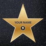Idérik vektorillustration av stjärnan för berömd skådespelare för trottoar Hollywood går av berömmelsekonstdesign Abstrakt begrep royaltyfri illustrationer