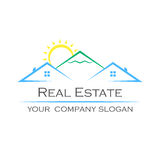 Idérik vektorlogo Real Estate symbol Arkivfoto