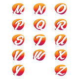 Idérika alfabetbokstäver Royaltyfri Bild
