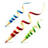 idérika blyertspennor för begrepp Arkivfoto