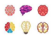 Idérika Brain Design Symbol Arkivfoton