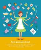 Idérika designbegrepp av hemmafruaktivitet Fotografering för Bildbyråer