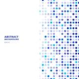 Idérika designmallar gör sammandrag blåa slumpmässiga prickar på vit bakgrund royaltyfri illustrationer