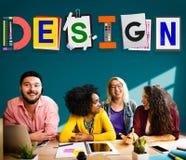 Idérika idéer för design som planerar kreativitetbegrepp Arkivfoton