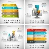 Idérika Infographics vektor illustrationer