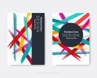 Idérika moderna broschyrdesignmallar Arkivbilder