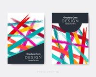 Idérika moderna broschyrdesignmallar Fotografering för Bildbyråer