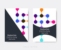 Idérika moderna broschyrdesignmallar Arkivfoton