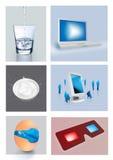 idérika objekt stock illustrationer