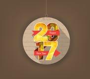 Idérika polygonal design för lyckligt nytt år 2017 royaltyfri illustrationer