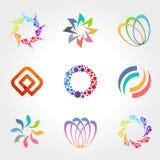 Idérika samlingar av Logo Design Arkivfoton