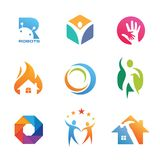 Idérika samlingar av Logo Design stock illustrationer