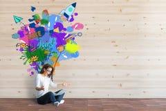 Idérika startup idéer royaltyfri fotografi