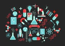 Idérika vetenskapsbeståndsdelar stock illustrationer