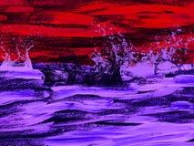 Idérikt abstrakt begrepp målad bakgrund, tapet, textur modern konst Samtida konst royaltyfri fotografi