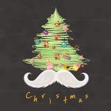 Idérikt beatufiulXmas-träd för beröm för glad jul Arkivfoto