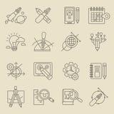 Idérikt begrepp för designprocess Arkivfoto