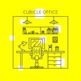 Idérikt begrepp för individuell arbetsplats royaltyfri illustrationer