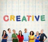 Idérikt begrepp för innovation för fantasi för designidékreativitet arkivfoton