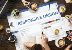 Idérikt begrepp för mall för prövkopiaWebsitedesign royaltyfri bild