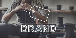 Idérikt begrepp för marknadsföring för designmärkesidentitet royaltyfri bild