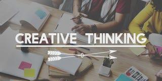 Idérikt för idédesign för tänka begrepp för fantasi för inspiration Arkivfoton