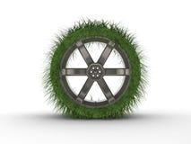 idérikt framfört gummihjul för bil Arkivfoton