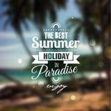 Idérikt grafiskt meddelande för din sommardesign. Arkivbilder