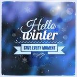 Idérikt grafiskt meddelande för vinterdesign Royaltyfri Fotografi