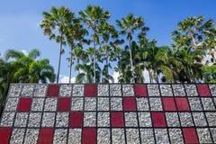 idérikt harmoniskt för lodlinjeträdgårdstil med naturen arkivbild