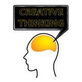 Idérikt hjärna för tänka Arkivbild