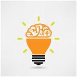 Idérikt hjärnsymbol, kreativitettecken, affärssym royaltyfri illustrationer