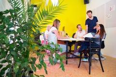 Idérikt kontor med växter Royaltyfri Bild