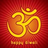 Idérikt kort för diwalifestivalhälsning Arkivbild