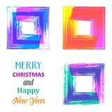 Idérikt kort för glad jul Arkivbild