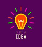 Idérikt kreativitet, idédesignbegrepp med Arkivbild