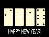 Idérikt lyckligt nytt år 2018 i form av domino Royaltyfria Foton