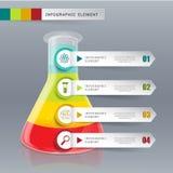 Idérikt mallrörexponeringsglas för infographic alternativ för vektor 4 stock illustrationer