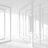 Idérikt modernt industriellt begrepp Vit lokal med fönstret vektor illustrationer