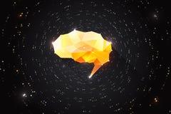 Idérikt motivationbegrepp av makt för mänsklig hjärna Motivational kläckning av ideerillustration Arkivbild