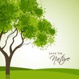 Idérikt träd för räddningnatur Royaltyfria Foton