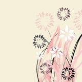 Idérikt universellt blom- kort Hand drog texturer Bröllop årsdag, födelsedag, dag för Valentin ` s, partiinbjudningar vektor Är Royaltyfri Foto