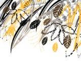 Idérikt universellt blom- kort Hand drog texturer Bröllop årsdag, födelsedag, dag för Valentin ` s, partiinbjudningar vektor Fotografering för Bildbyråer
