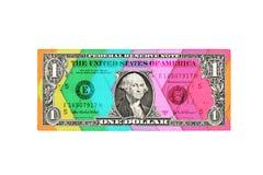 Idérikt USA en dollarräkning som isoleras Royaltyfri Foto
