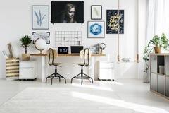 Idérikt utrymme i hem fotografering för bildbyråer
