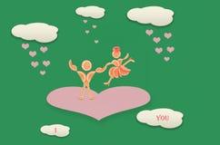 Idérikt valentinbegreppsfoto Rött hjärtasymbol av förälskelse eller D Fotografering för Bildbyråer