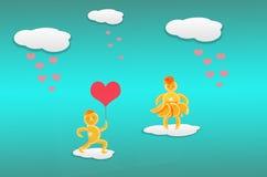 Idérikt valentinbegreppsfoto Rött hjärtasymbol av förälskelse eller D Arkivfoton