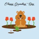 Idérikt vektorabstrakt begrepp för den Groundhog dagen royaltyfri illustrationer